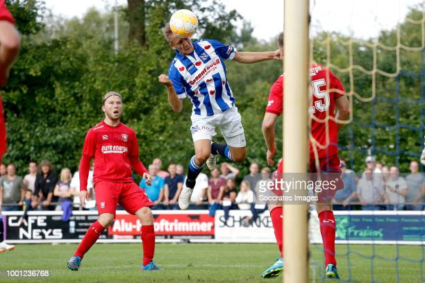 Emil Frederiksen of SC Heerenveen during the Club Friendly match between SC Heerenveen v Fc Twente at the Sportpark 't Paradijske on July 18 2018 in...