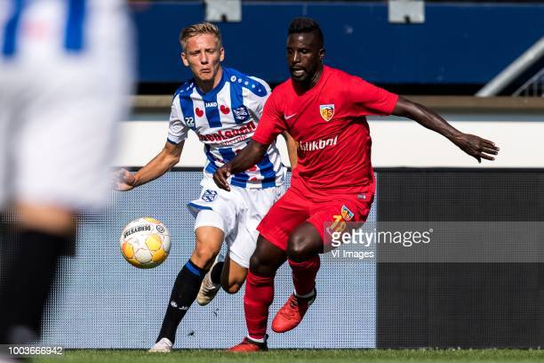 Emil Frederiksen of sc Heerenveen Silvestre Varela of Kayserispor during the Friendly match between sc Heerenveen and Kayserispor at Abe Lenstra...