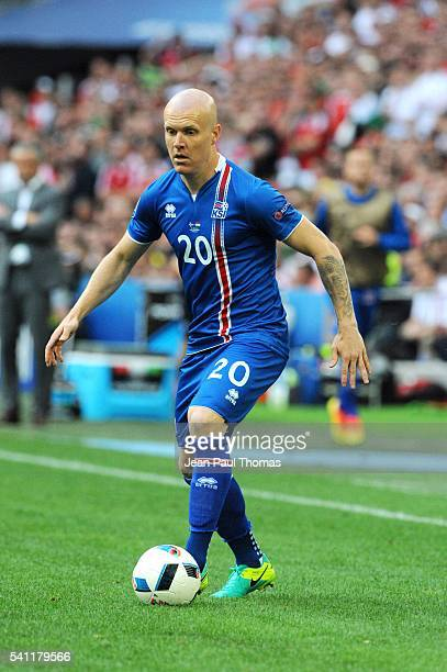 Emil HALLFREDSSON of Iceland during the UEFA EURO 2016 Group F match between Iceland and Hungary at Stade Velodrome on June 18 2016 in Marseille...