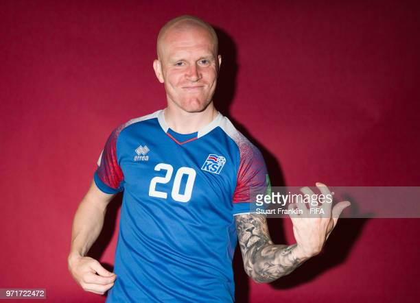 Emil Hallfredsson of Iceland poses for a picture during the official FIFA World Cup 2018 portrait session at on June 11 2018 in Gelendzhik Russia