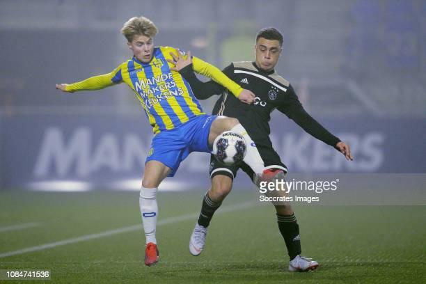 Emil Hansson of RKC Waalwijk Sergino Dest of Ajax U23 during the Dutch Keuken Kampioen Divisie match between RKC Waalwijk v Ajax U23 at the...