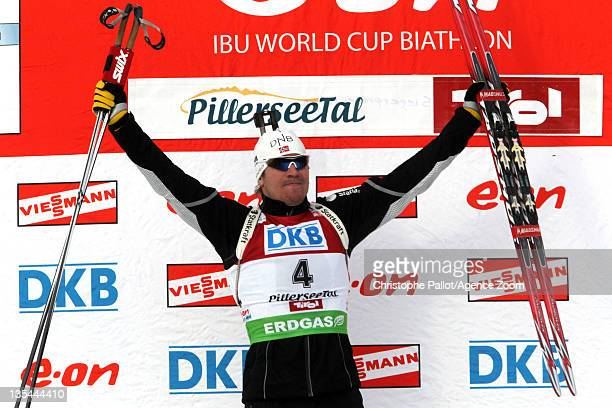 Emil Hegle Svendsen of Norway takes 1st place during the IBU Biathlon World Cup MenÕs Pursuit on December 10 2011 in Hochfilzen Austria
