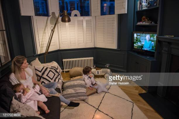 Emil Hussein aged 4 who is the photographer's son Charlotte Hussein the photographer's wife and Leilani Hussein aged 1 the photographer's daughter...