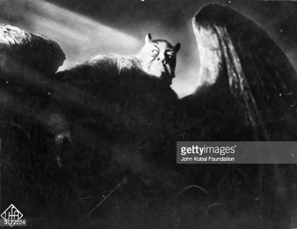 Emil Jannings plays the winged Mephisto in the film 'Faust' a silent classic directed by F W Murnau and based on the story by Goethe