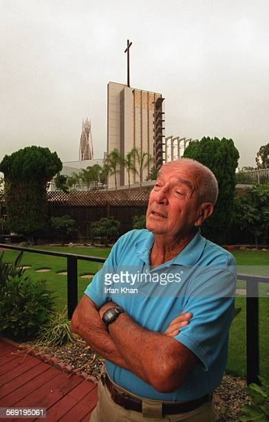 Emil Kajer has lived for almost forty years in a house in Garden Grove, but now his home is surrounded by a parking lot for the Crystal Cathedral....