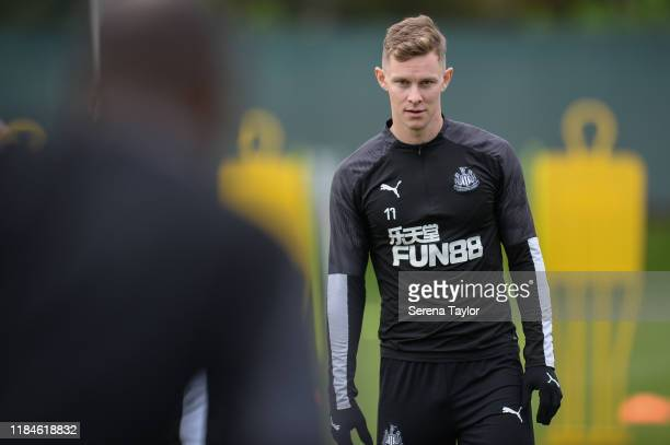 Emil Krafth during the Newcastle United Training Session at the Newcastle United Training Centre on October 31, 2019 in Newcastle upon Tyne, England.