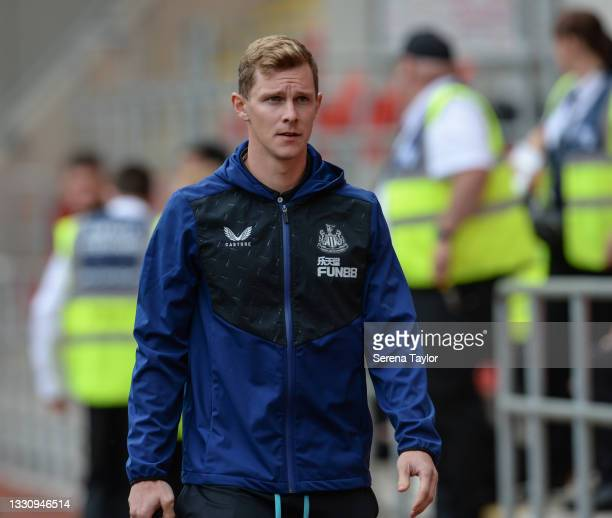 Emil Krafth of Newcastle United FC during the Pre Season Friendly between Rotherham United and Newcastle United at AESSEAL New York Stadium on July...