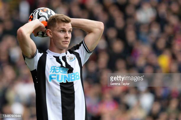 Emil Krafth of Newcastle United FC during the Premier League match between Crystal Palace and Newcastle United at Selhurst Park on October 23, 2021...