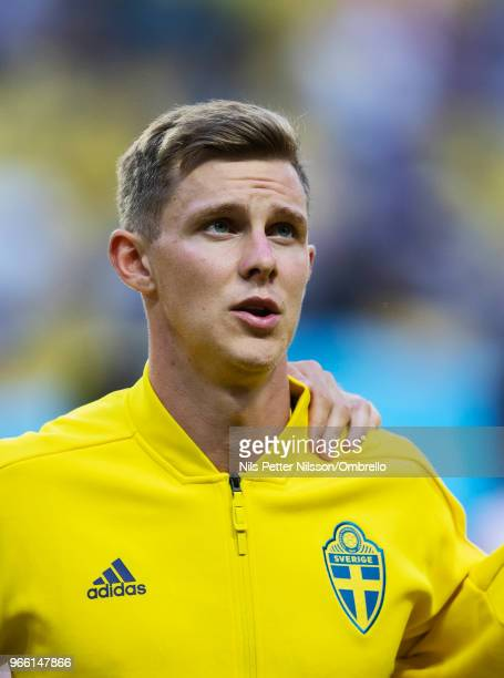 Emil Krafth of Sweden ahead of the International Friendly match between Sweden and Denmark at Friends Arena on June 2 2018 in Solna Sweden