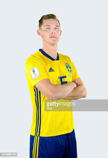 Emil Krafth of Sweden poses during the official FIFA World Cup 2018 portrait session on June 18 2018 in Gelendzhik Russia