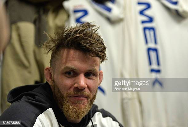 Emil Meek of Norway relaxes backstage during the UFC 206 event inside the Air Canada Centre on December 10, 2016 in Toronto, Ontario, Canada.