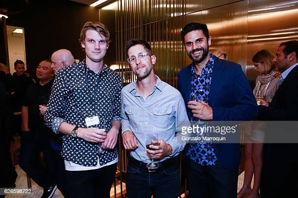 Emil PoulsenMatt Culver and Clayton Hardacre at the Angelo Bonati Celebrates SHoP Architects the Winner of the 2016 Panerai Design Miami Visionary...