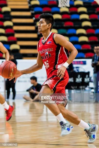 Emil Renz Palma of Blackwater Elite dribbles the ball up court against the Guangzhou Long Lions during Summer Super 8 game between Guangzhou Long...