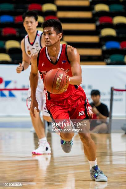 Emil Renz Palma of Blackwater Elite handles the ball during Summer Super 8 game between Guangzhou Long Lions and Blackwater Elite at the Macao East...
