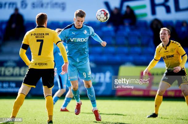 RANDERS DENMARK MARCH Emil Riis Jakobsen of Randers FC scores the 10 goal during the Danish Superliga match between Randers FC and AC Horsens at...