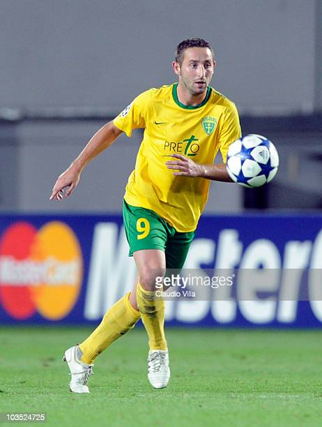 Emil Rilke of MSK Zilina during the Champions League Playoff match between Sparta Prague and Zilina at Generali Arena on August 17 2010 in Prague...