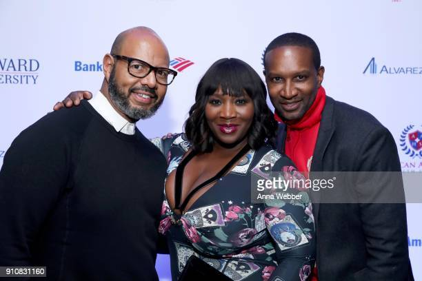 Emil WilbekIn Bevy Smith and Chris Chambers attend La La Anthony's PreGrammy Party Presented by Howard University on January 26 2018 in New York City