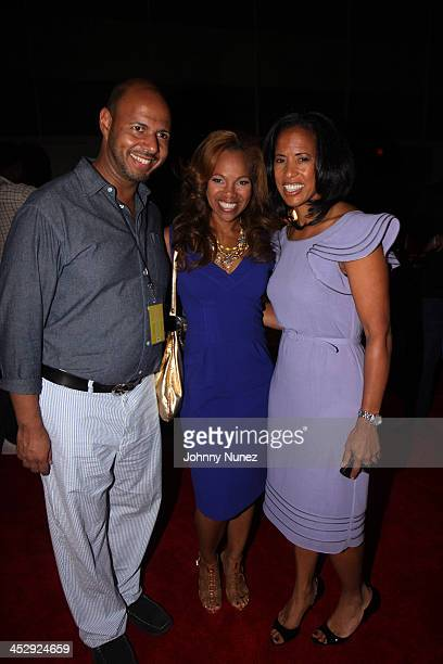 Emil Wilbekin Donna RichardsonJoyner and Michelle Ebanks attend the 2009 Essence Music Festival Presented by CocaCola at the Louisiana Superdome on...