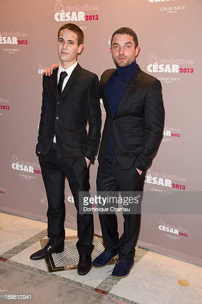 Emile Berling and Guillaume Gouix attend the 'Cesar's Revelations 2013' Dinner Arrivals at Le Meurice on January 14 2013 in Paris France