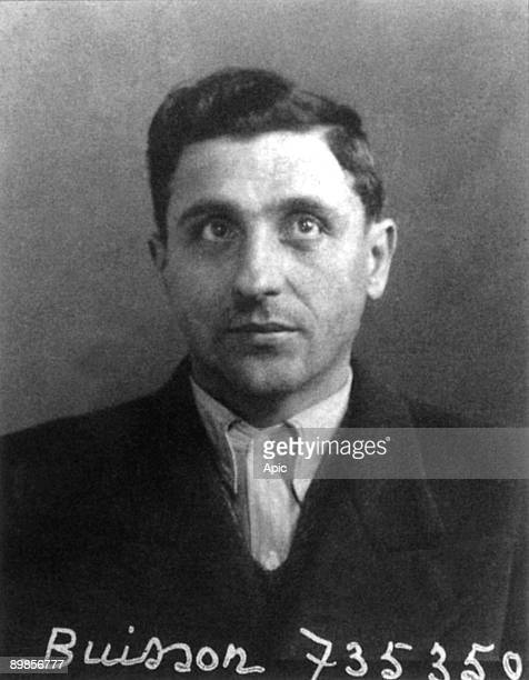 Emile Buisson french gangster who committed a lot a thefts and murders he was arrested and executed judicial portrait