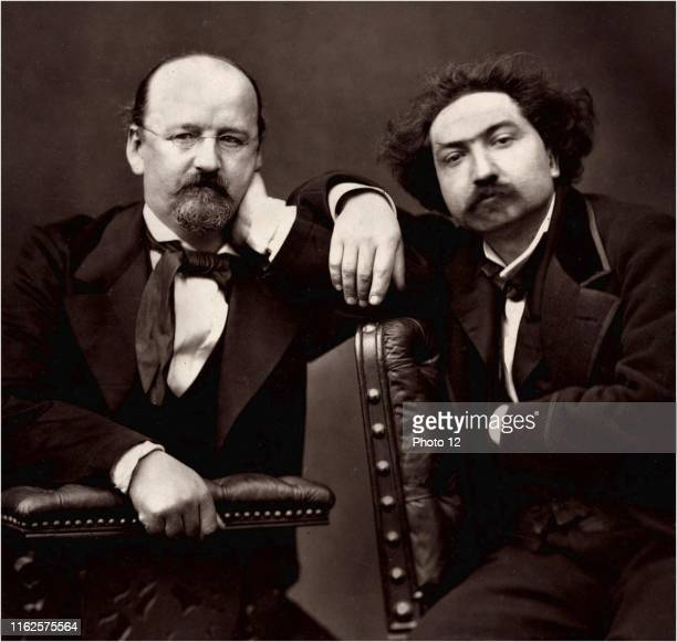Emile Erckmann and Alexandre Chatrian , french writers who wrote their books together, under the pen name Erckmann-Chatrian. Photo by Pierre Petit.