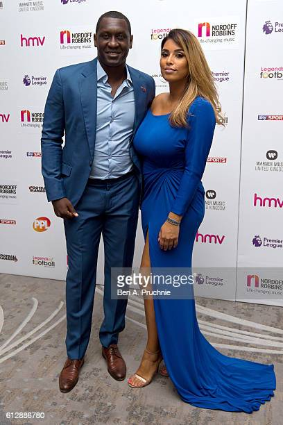 Emile Heskey and Chantelle Tagoe attends the 21st Legends of football event to celebrate 25 seasons of the Premier League and raise money for music...