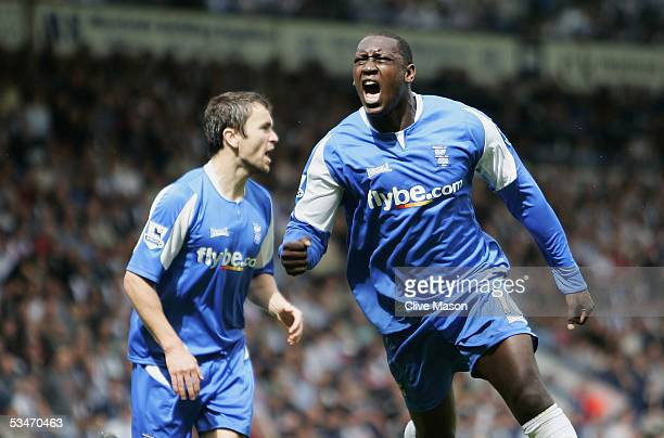 Emile Heskey of Birmingham City celebrates his first goal during the FA Barclays Premiership match between West Bromwich Albion and Birmingham City...