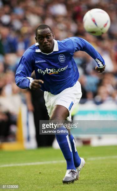 Emile Heskey of Birmingham during the Pre Season Friendly match between Sheffield Wednesday and Birmingham City at Hillsborough on July 28, 2004 in...