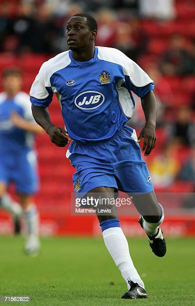 Emile Heskey of Wigan Athletic in action during the Preseason Friendly match between Barnsley and Wigan Athletic at Oakwell on August 1 2006 in...