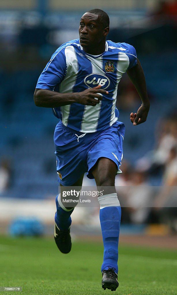 Emile Heskey of Wigan Athletic in action during the Pre-Season Friendly match between Leeds United and Wigan Athletic at Elland Road, on August 04, 2007 in Leeds, England.
