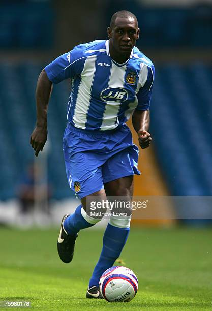 Emile Heskey of Wigan Athletic in action during the PreSeason Friendly match between Leeds United and Wigan Athletic at Elland Road on August 04 2007...