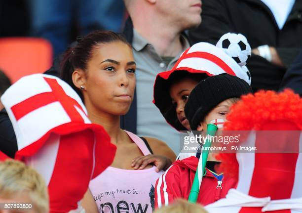 Emile Heskey's fiancee Chantelle Tagoe in the stands