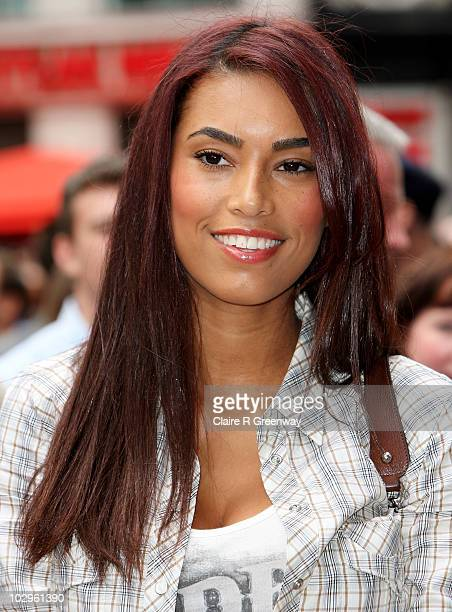 Emile Heskey's wife Chantelle Tagoe arrives at the UK premiere of 'Toy Story 3' at Odeon Leicester Square on July 18 2010 in London England