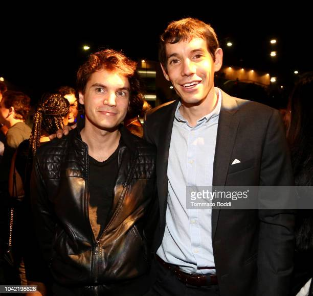 Emile Hirsch and Alex Honnold attend the LA Film Festival gala screening of National Geographic Documentary Films Free Solo at the Wallis Annenberg...