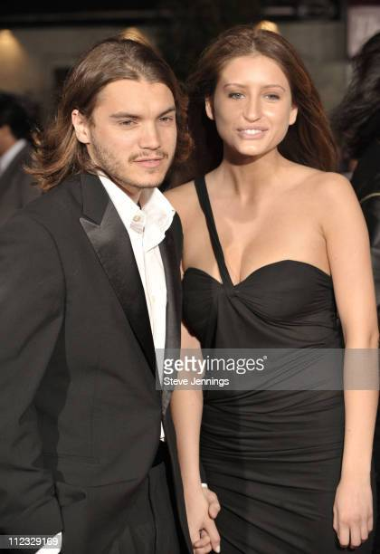 Emile Hirsch and guest attend the premiere of 'Milk' hosted by Levi's at the Castro Theater on October 28 2008 in San Francisco California