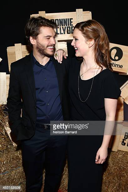 Emile Hirsch and Holliday Grainger attend the Bonnie And Clyde Series New York Premiere at The McKittrick Hotel on December 2 2013 in New York City