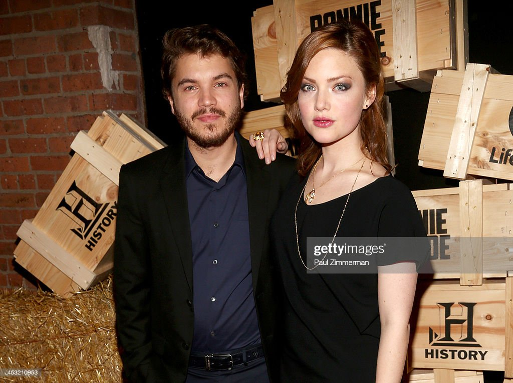 Emile Hirsch (L) and Holliday Grainger attend the 'Bonnie And Clyde' series premiere at The McKittrick Hotel on December 2, 2013 in New York City.