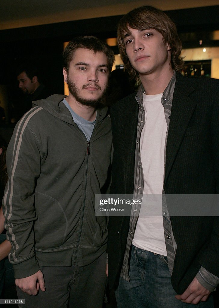 Emile Hirsch and Ryan Donowho during Party Celebrating the Premiere of the New TBS Comedy Series 'Daisy Does America' - Red Carpet & Inside at Guy's in West Hollywood, California, United States.