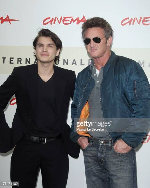 Emile Hirsch and Sean Penn attends the 'Into The Wild' photocall during Day 7 of the 2nd Rome Film Festival on October 24 2007 in Rome Italy