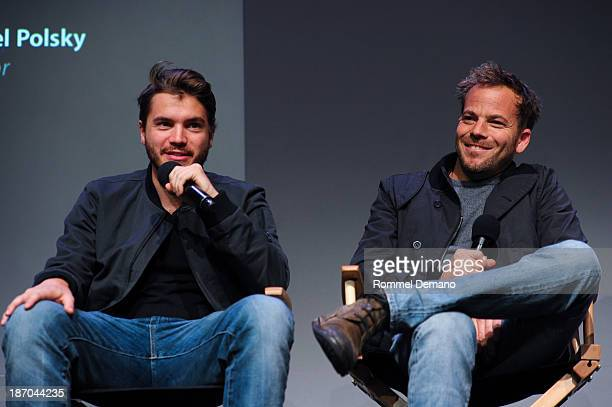 Emile Hirsch and Stephen Dorff attend Apple Store Soho Presents Meet The Filmmakers 'Motel Life' at Apple Store Soho on November 5 2013 in New York...