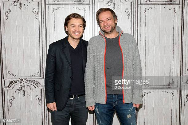 "Emile Hirsch Andre Ovredal attend the Build Series to discuss ""The Autopsy of Jane Doe"" at AOL HQ on December 8, 2016 in New York City."