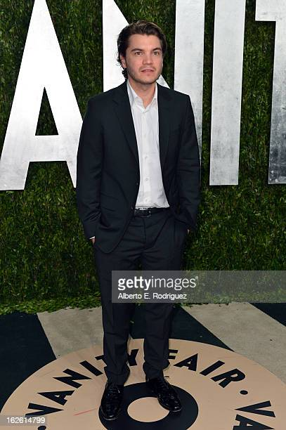 Emile Hirsch arrives at the 2013 Vanity Fair Oscar Party hosted by Graydon Carter at Sunset Tower on February 24 2013 in West Hollywood California