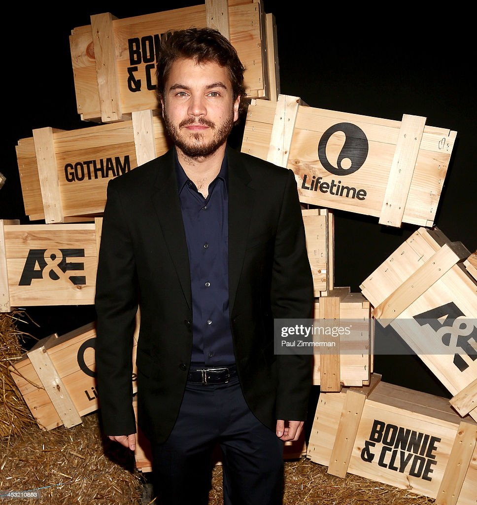 Emile Hirsch attends the 'Bonnie And Clyde' series premiere at The McKittrick Hotel on December 2, 2013 in New York City.