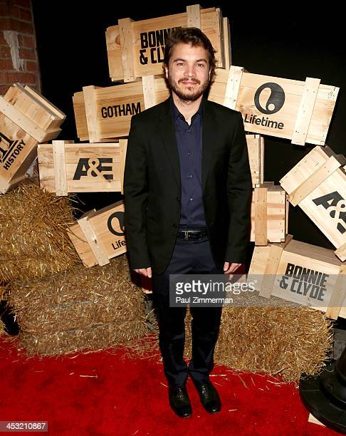 Emile Hirsch attends the 'Bonnie And Clyde' series premiere at The McKittrick Hotel on December 2 2013 in New York City