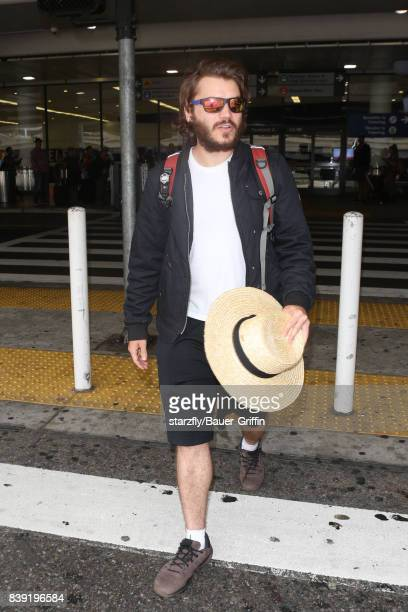 Emile Hirsch is seen at LAX on August 25 2017 in Los Angeles California