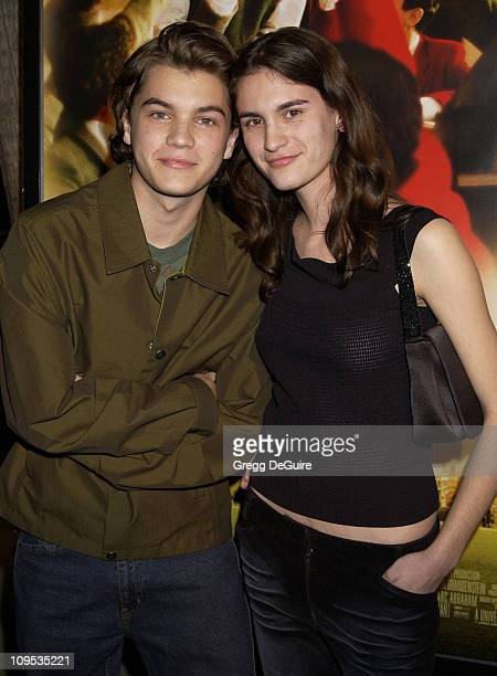 Emile Hirsch sister during 'The Emperor's Club' Premiere Los Angeles at Academy Theatre in Beverly Hills California United States