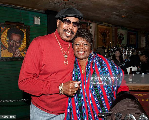 Emile Jackson and his wife Irma Thomas pause for a photo during Home For The Holiday Featuring The Andrews Family at the House of Blues on December...