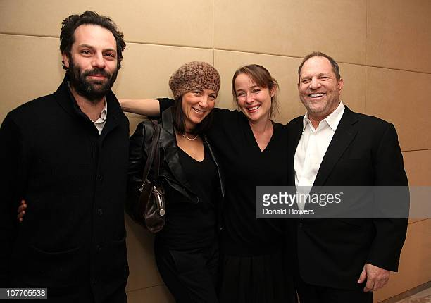 Emile Sherman Eve Best Jennifer Ehle and Harvey Weinstein attend a screening of The King's Speech at 57 Screening Room on December 20 2010 in New...