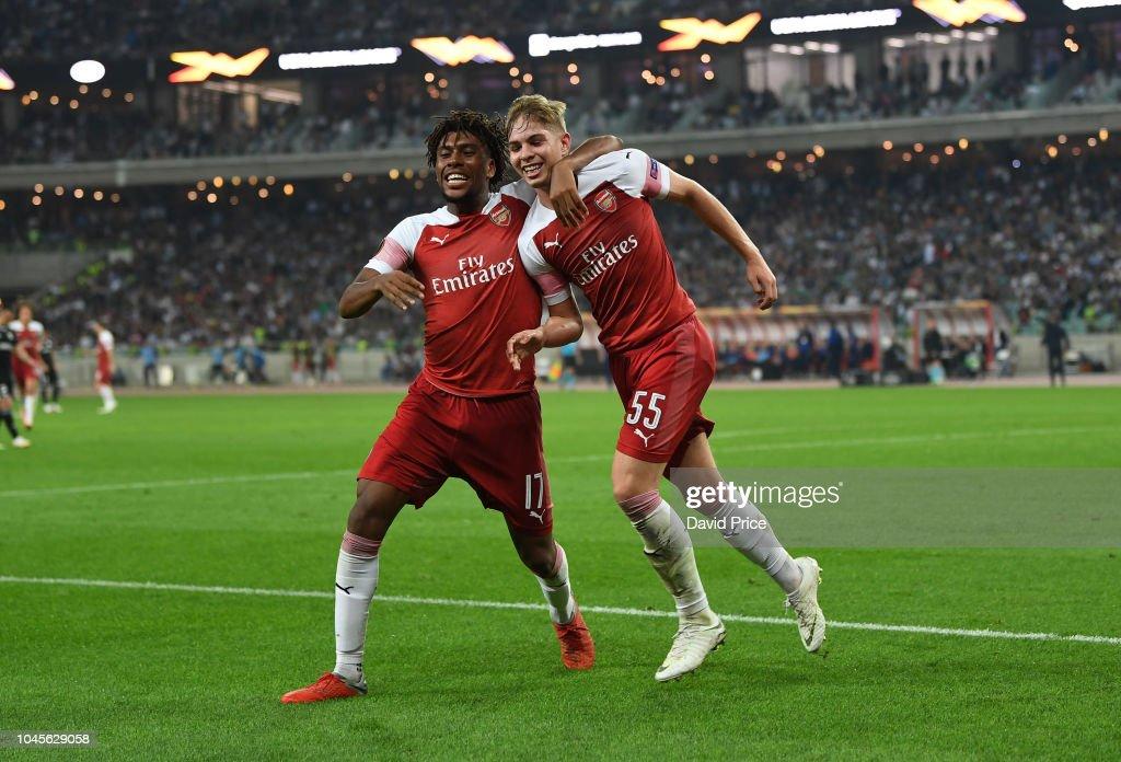 Qarabag FK v Arsenal - UEFA Europa League - Group E : ニュース写真