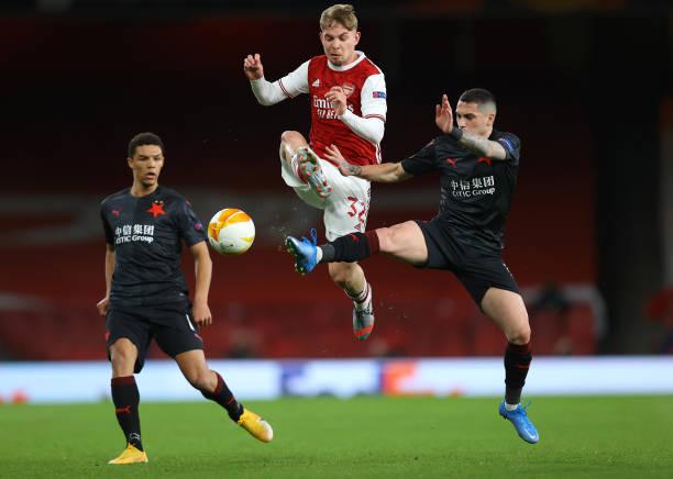 GBR: Arsenal FC v Slavia Praha - UEFA Europa League Quarter Final: Leg One